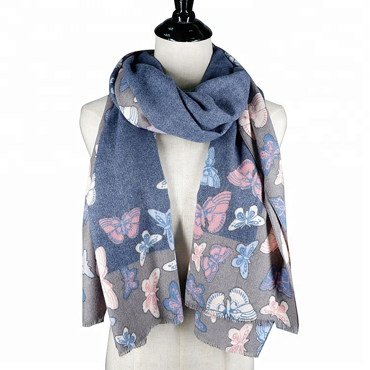 Honest Beautiful Scarf Shawl Cashmere Silk Grey Brown Beige Tan Warm Pashmina Wrap To Have Both The Quality Of Tenacity And Hardness Women's Clothing