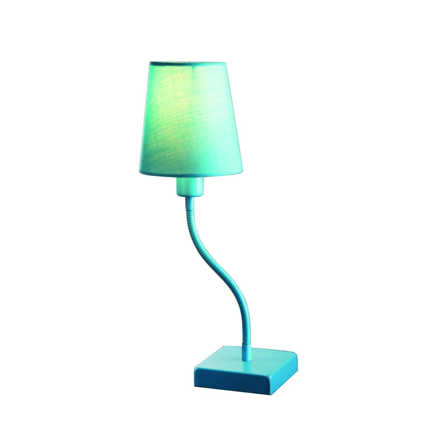 Normande Lighting FS3-863 13W Daylight Spectrum Table Lamp with Flexible Gooseneck, Blue with Blue Fabric Shade