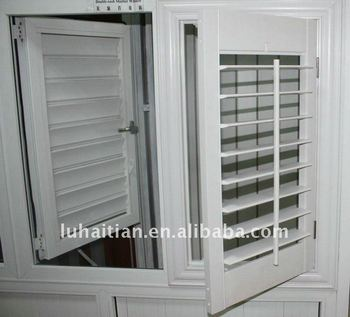 Anti Aging Pvc Profiles Louver Shutter Doors And Windows
