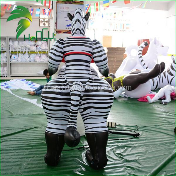 Grande pancia gonfiabile in pvc cartone animato animale giocattolo