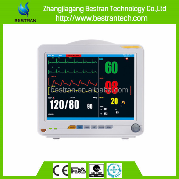 BT-PM8C China 12 inch 6 standard parameter portable emergency transport patient monitor manufacture