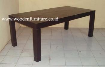 Teak Minimalist Dining Table Minimalist Dining Room Teak Indoor Furniture  Solid Teak Wood Table Modern Home