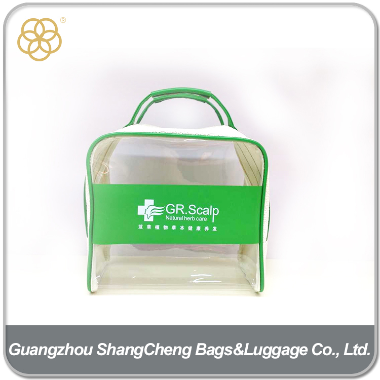 Wholesale Zipper PVC Clear Plastic Bags With Handles