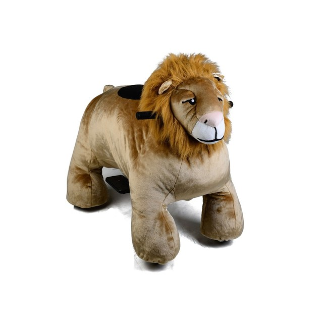 happy plush walking animal electric toys battery car for kids entertainment