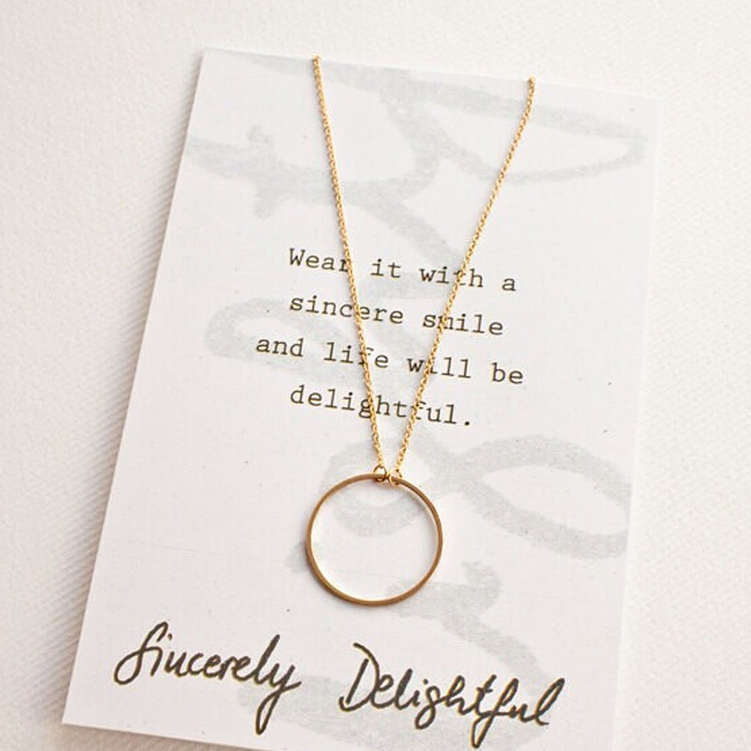 Nero 2015 Hot Chic Circle Shaped Lariat Style Single Chain Jewelry Necklaces for Women