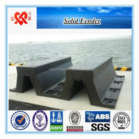 Made in China solid marine super arch fender cylinder type V type D type rubber dock fender