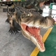 Jungle animal life size robot crocodile sculpture