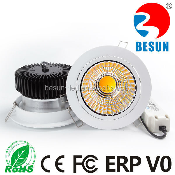 BESUN super bright 30w cob led downlight with high lumen 130-150lm/w Epistar Cob