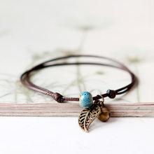Браслет в форме колокольчика, винтажный керамический браслет с бусинами для женщин(Китай)