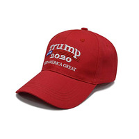 Wholesale Donald Trump 2020 Keep America Great Cap Adjustable Cotton Baseball Cap Hat with USA Flag