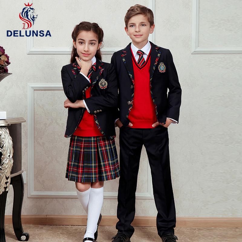 Wholesale Cheap Fancy Girl Plaid Skirt School Uniform Boy Blazer With Logos  - Buy School Uniform,Uniform Blazer With Logos,Plaid Skirt School Uniform