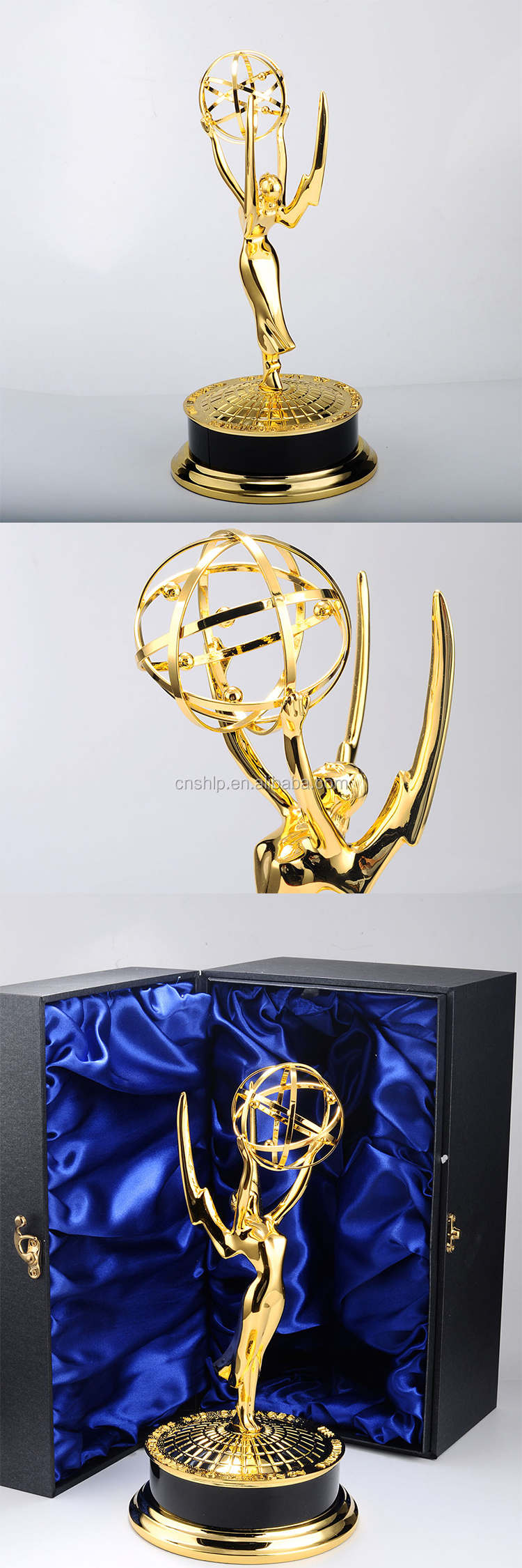 High quality wholesale metal gold plated award trophy with no minimum order