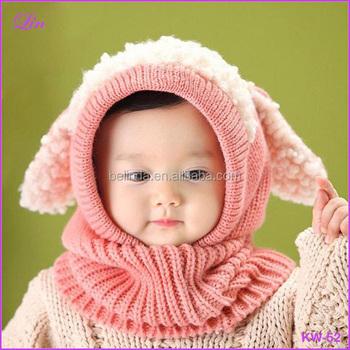 Free Shipping Winter Baby Girl Boy Warm Cute Dog Pattern Knitted