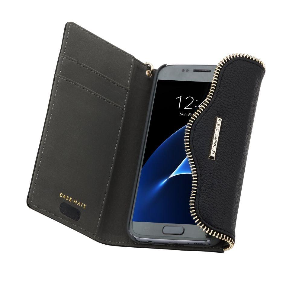 Case-Mate Rebecca Minkoff Leather Folio Wristlet Case for Galaxy S7 Black CM033986 [CM033986]
