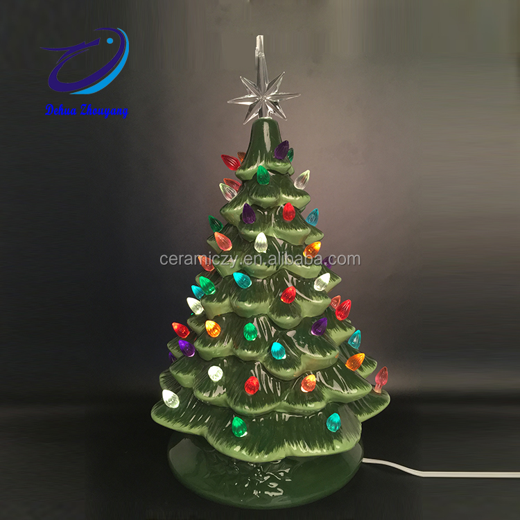 tabletop ceramic christmas tree wholesale with lights tabletop ceramic christmas tree wholesale with lights suppliers and manufacturers at alibabacom - Porcelain Christmas Tree With Lights