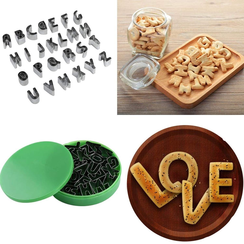 DDLBiz 26Pcs Biscuit Cake Mold Cutter Letters Alphabet Shaped Mould Fondant Cookie Biscuit Cake Decorating DIY Tools