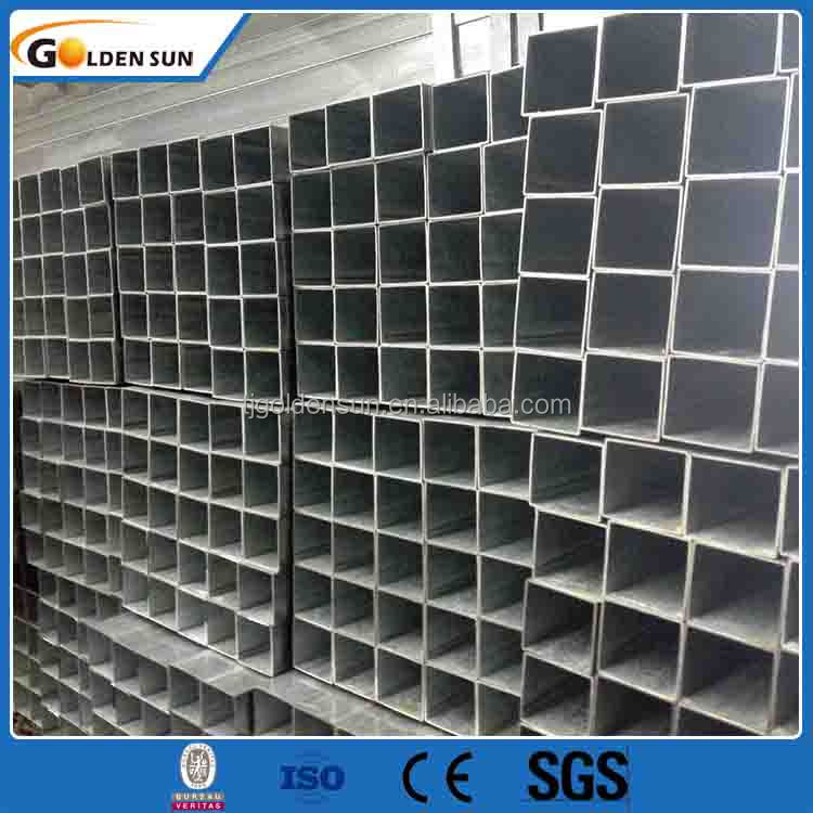 1.5 inch fencing Mild Carbon Square Welded Galvanized Steel Pipe / Tube Manufacturer for greenhouse