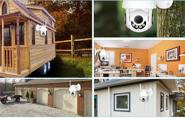 2019 Hot Motion Detection Outdoor Dome PTZ 1080P iOS Android Mobile Phone View Wifi IP Security CCTV P2P Camera Wireless Network