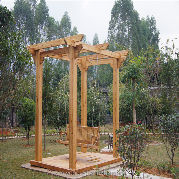 Solid thermowood manufacturer garden wooden pergola
