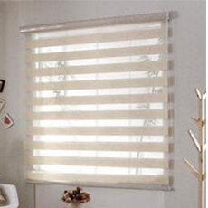 Multi-colored double layer blinds fabric windows zebra roller blind