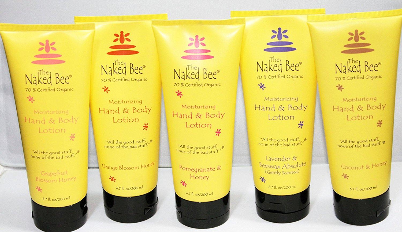 Naked Bee 5 Pack Variety Set Hand & Body Lotion 6.7 Oz Orange Blossom Honey Pomegranate Lavender Grapefruit Coconut