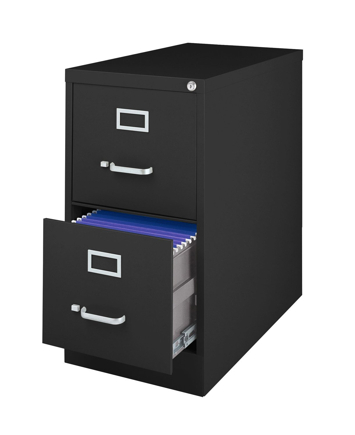 Get Quotations Luxor Metal Letter Size Vertical File Storage Cabinet With 2 Locking Drawers Black