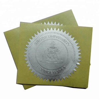Customized embossed University Certificate sticker label