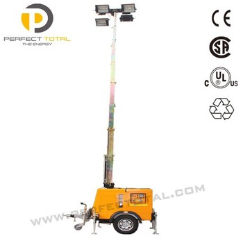 Trailer Type Mobile Diesel Electric Light Tower - Buy Electric ...