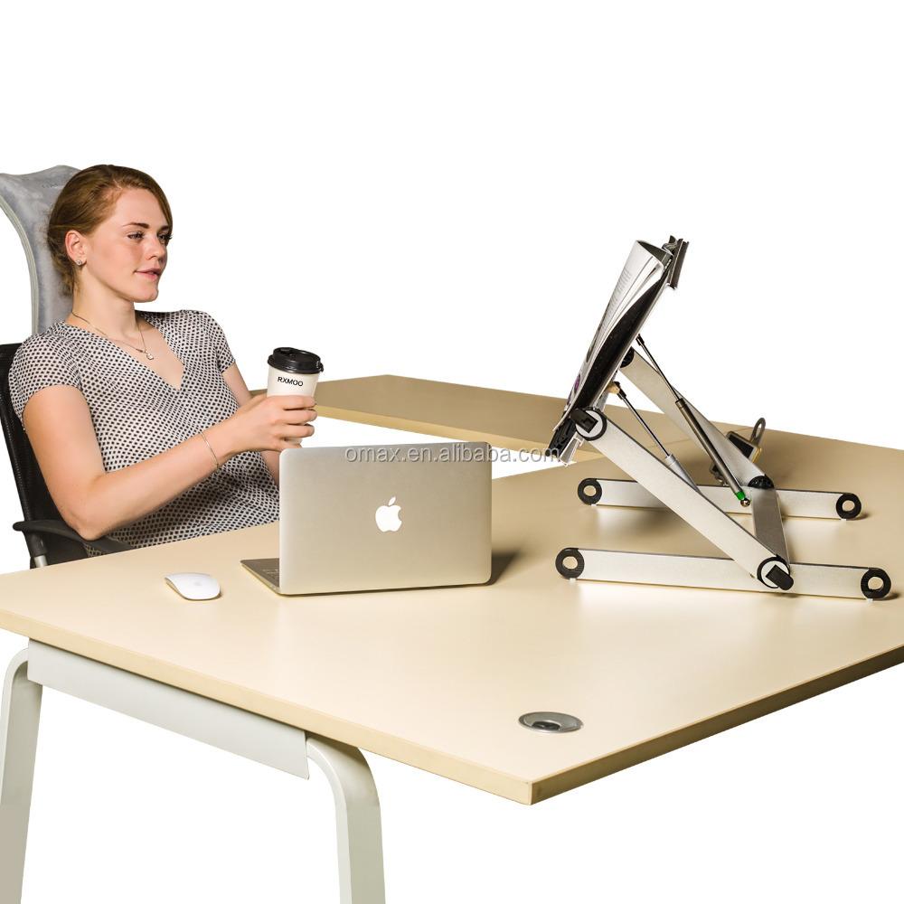Attraktiv Folding Einstellbare Große Laptop Computer Tisch Steh Schreibtisch Für  Monitor Und Imac