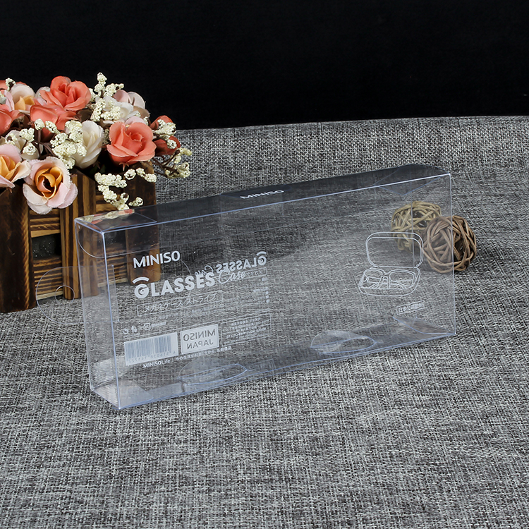 Custom Printed Clear Rectangle Vinyl Soft PVC/ PET/ PP Plastic POP Protector Retail Packaging Box