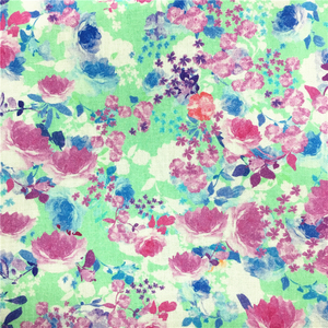Attractive Floral Design Digital Printed 50% Cotton 50% Modal Fabric
