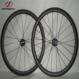 Carbon road bicycle disc wheelset 700C 40MM Tubular carbon bicycle wheels disc