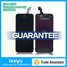 Banyu shop supply large stock aaa lcd for apple iphone 5c china