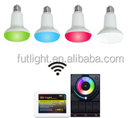 beautiful colorful 2.4g wireless remote control mushroom lamp 9W e27 rgb led lighing smart bulb wireless mushroom light