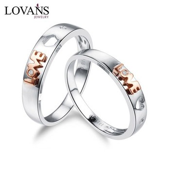 single diamond wedding ring in 14k white gold 7mm