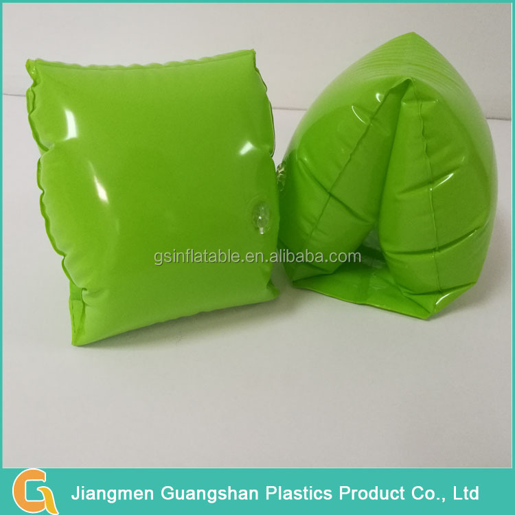 custom swimming green inflatable arm float ring for kid