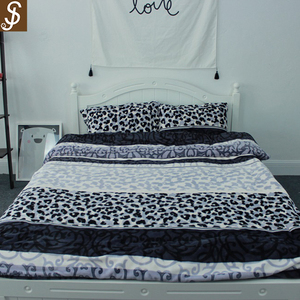 S&J2017 Fashion Style High Quality 4pcs Flannel Fleece Bedding Sheet