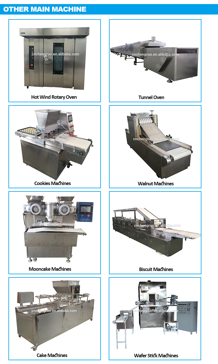 factory supply Baking Maker Waffle Pizza Cone biscuit production line price