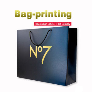 Cheap wholesale custom brand logo printing kraft recyclable shopping gift paper bags with your own logo
