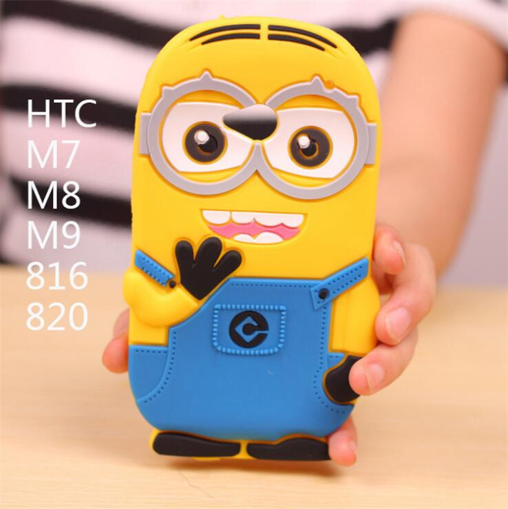 Despicable me Cute back cover minion case for htc one m7 m8 m9 desire 816 820