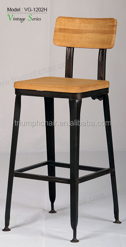 Triumph Solid wood seating Rustic finishing metal iron frame Industrial bar Stools Reclaimed Wood barstool & Triumph Solid Wood Seating Rustic Finishing Metal Iron Frame ... islam-shia.org
