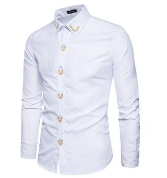 Oem Putih Polos Gaun Bisnis Pria Nyaman Baju Kemeja Kantor Lengan Panjang Desain Buy Pria Kemeja Lengan Panjang Pria Baju Kemeja Kemeja Bisnis Product On Alibaba Com