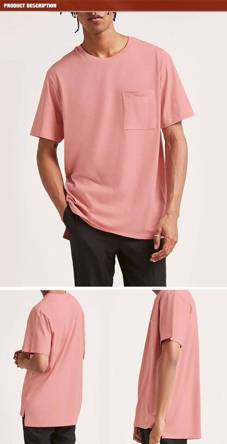 Sang trọng chất lượng cao 100% bamboo cotton tùy chỉnh đồng bằng thiết kế trống túi người đàn ông t áo sơ mi
