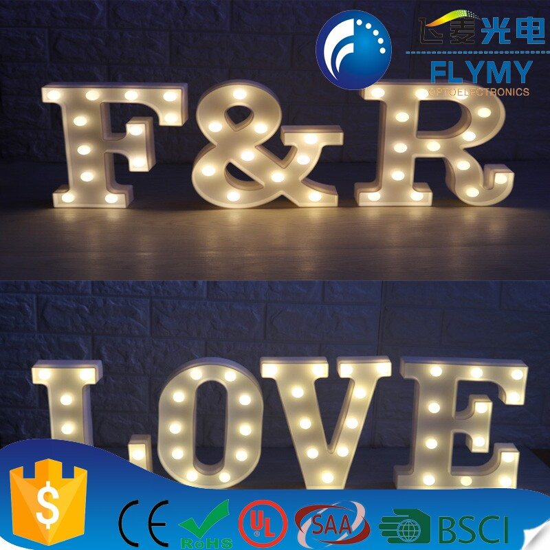 LED illuminated Christmas 3d channel marquee alphabet letter lights