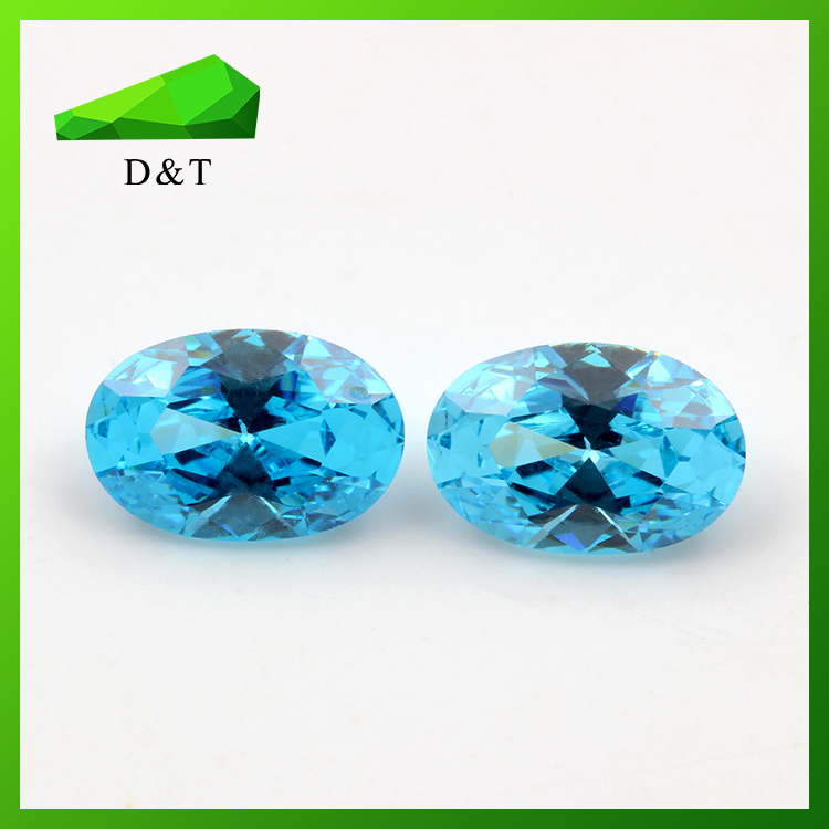 Chinese supplier high quality oval synthetic cubic zircon stone