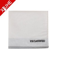 custom best price cotton embroidered your own logo handkerchief