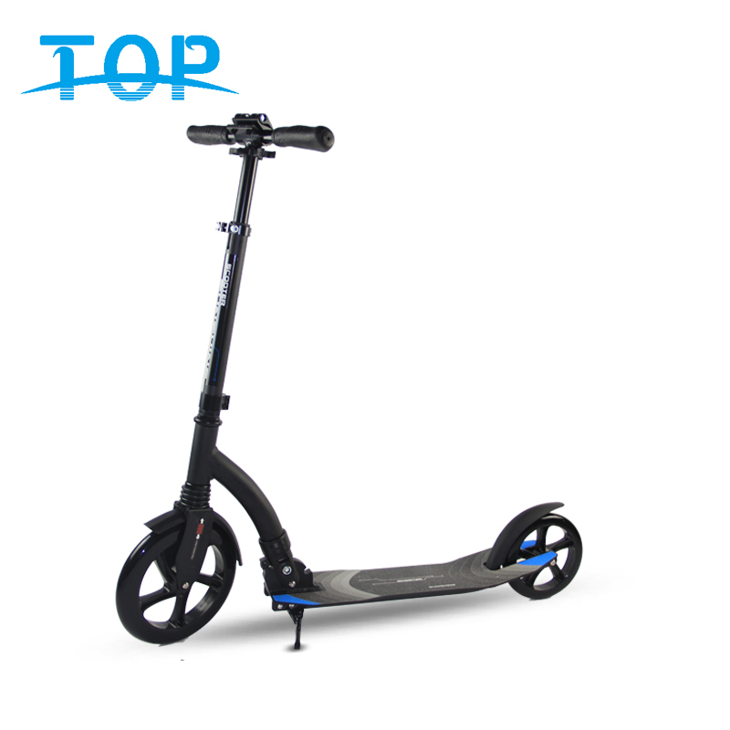 2019 Folding adult foot step push kickboard scooter 200mm adult two big pu wheels off road kick scooter for sale