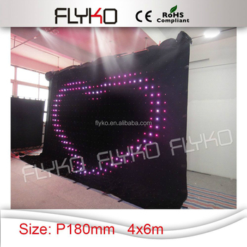 Sexy Movie Play Blue Firm Video Hot Products Led Video Curtain