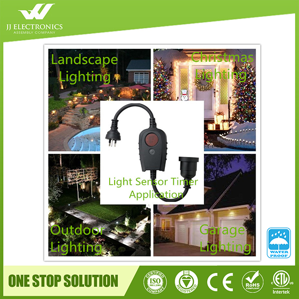 New Design Australian Plug Ip44 Outdoor Dusk To Dawn In Timer With Photocell