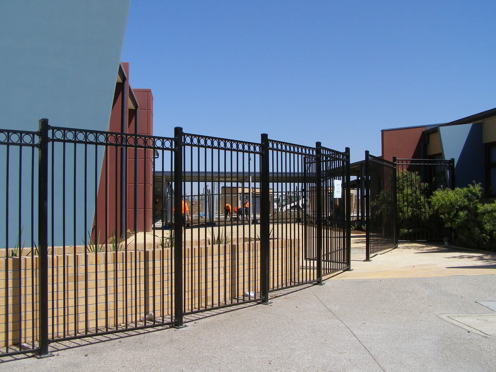 Galvanized steel fence poles